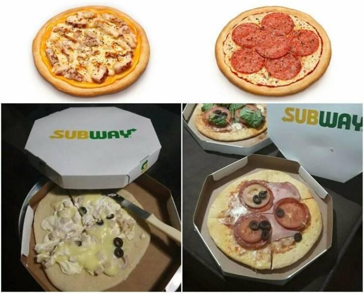 Restaurant Food Advertising Vs Their Actual Food