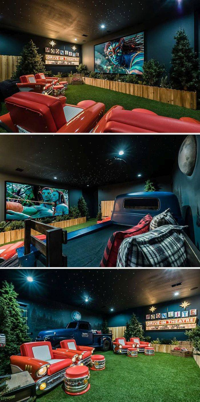 These Are Some Real Home Movie Theaters!