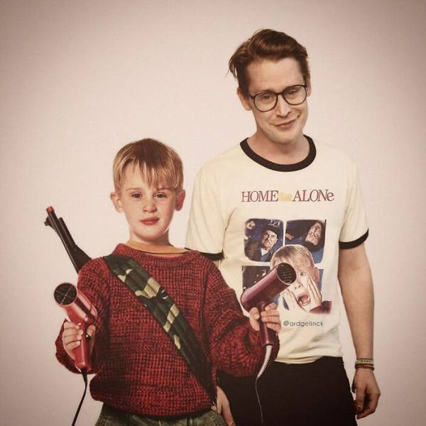 Celebrities Photoshopped With Their Younger Selves
