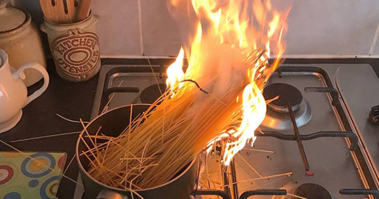 Not Everyone Can Be Good At Cooking…