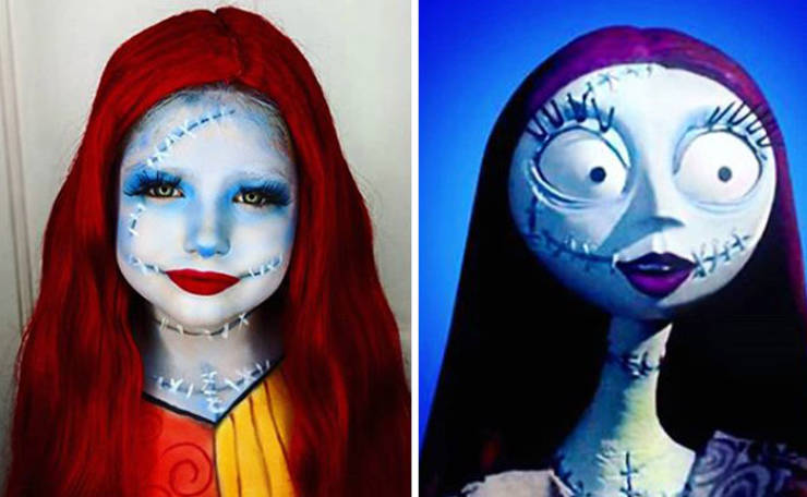 Mom Gives Her Daughters A Full Month Of Halloween Makeup