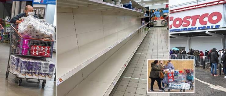 UK Shopping Mall Shelves Are Empty Again…