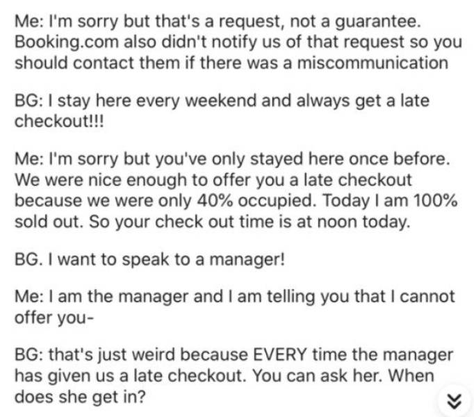 Never Be Like This Hotel Guest…