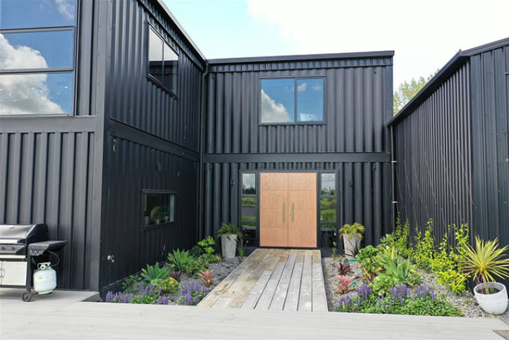 This Cool House Is Built Entirely Out Of 12 Shipping Containers!