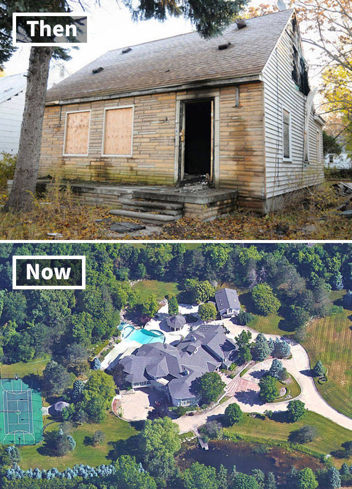 Celebrity Houses Before And After Their Fame