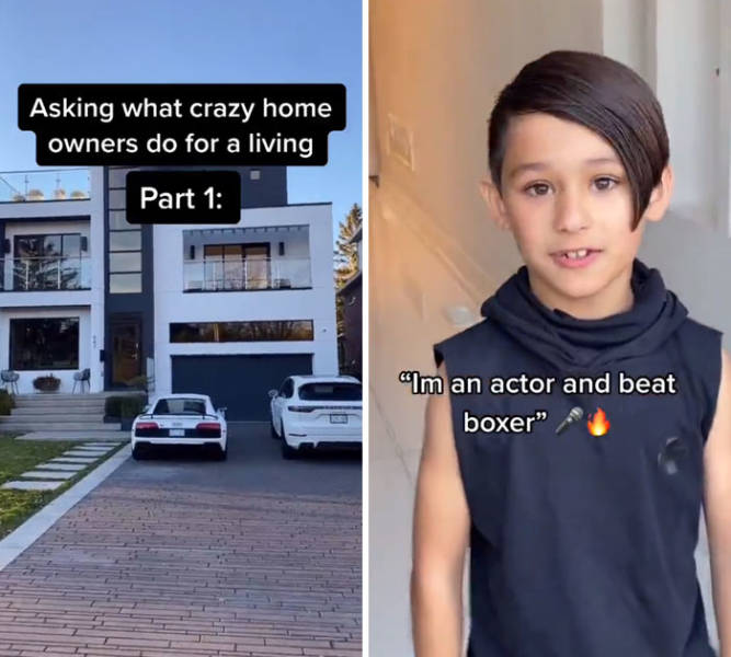 Guy Asks People Who Live In Big Houses What They Do For A Living