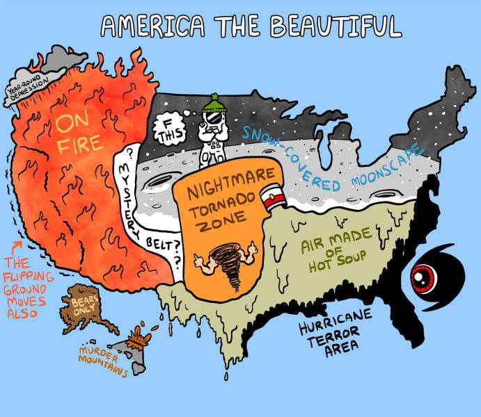 Cool Maps Of United States Of America!