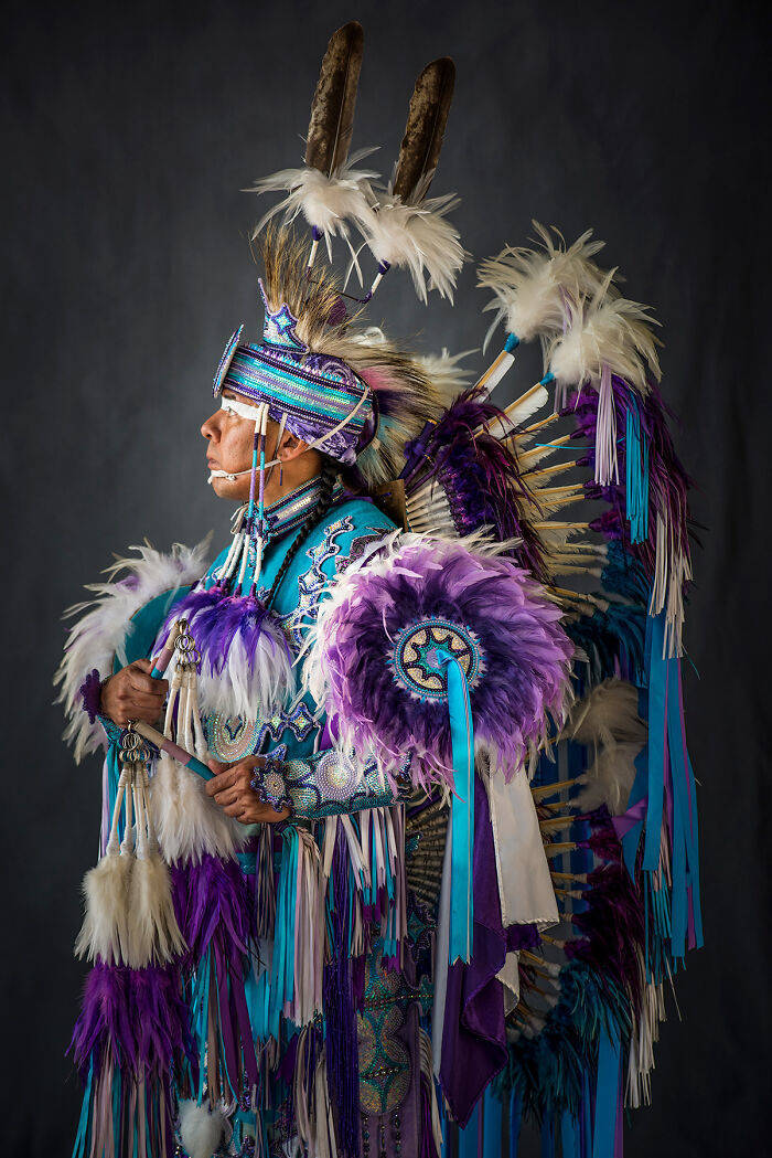 Photographer Creates A Series Of Portraits Of Native Americans Posing In Their Traditional Regalia