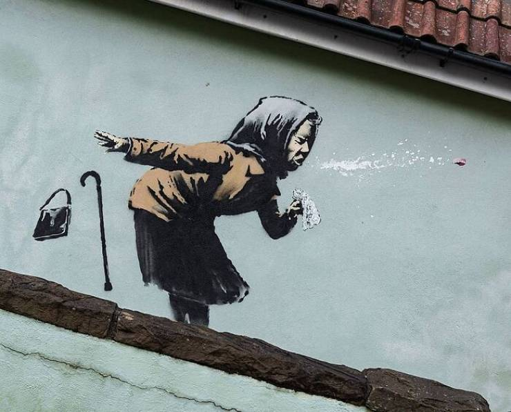 Banksy Finishes 2020 With A Coronavirus-Themed Message In Bristol, England