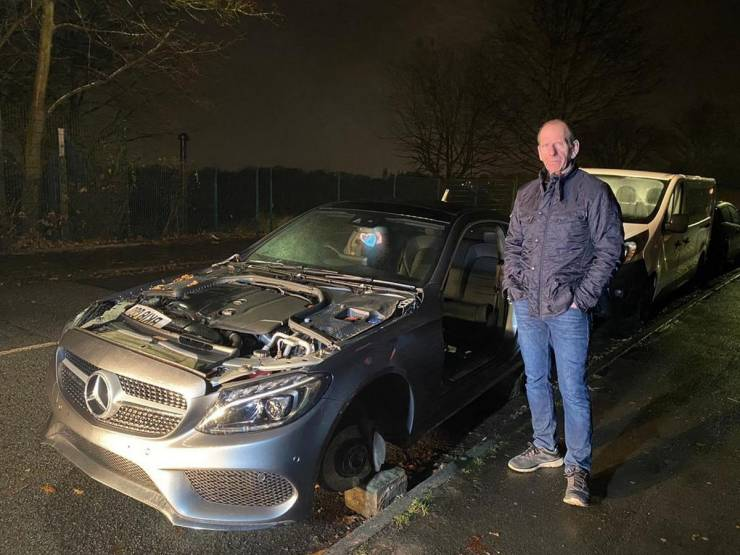 """Man's """"Mercedes"""" After One Night Outside…"""