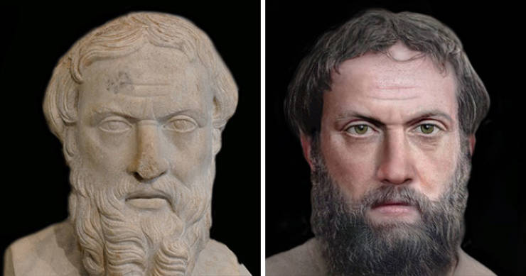 Guy Restores Faces Of Historical Figures Using Modern Technology