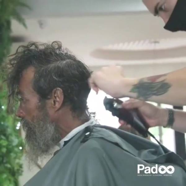 Homeless Man Gets A Transformation, Then Gets Found By His Family Who Thought He Was Long Gone