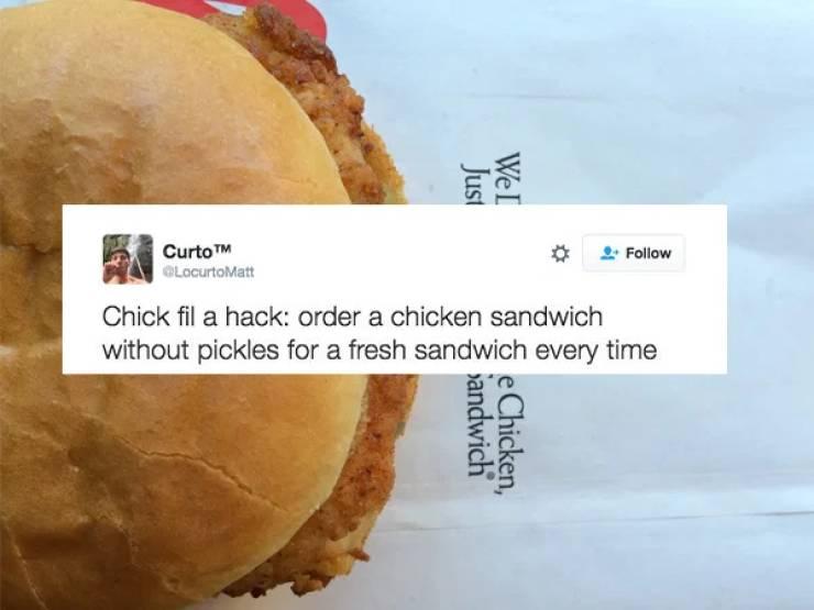 "Some ""Chick-Fil-A"" Hacks?"