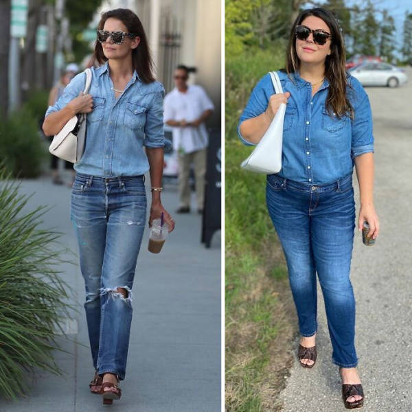 Woman Dresses Like Celebrities To Show That Anyone Can Look Like One!