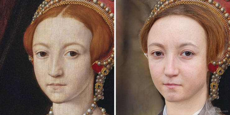 Digital Artist Turns Paintings Of Historical Figures Into Realistic Images