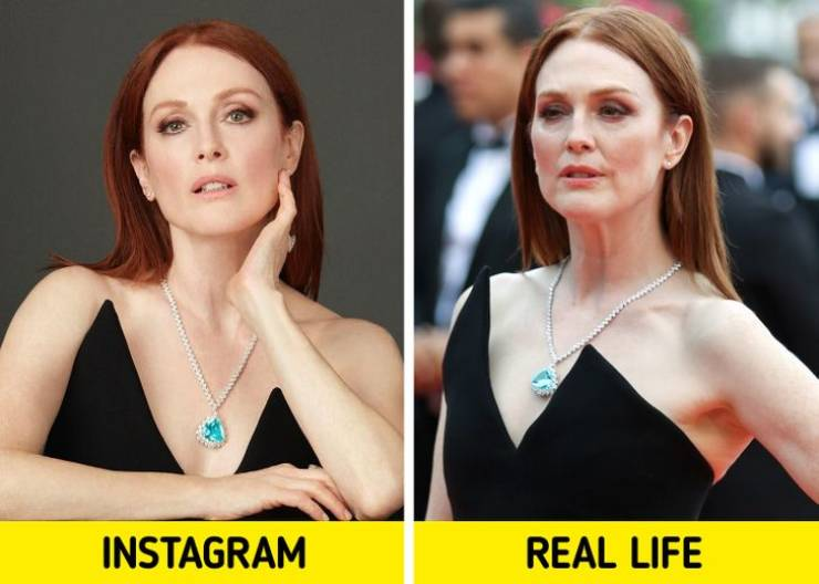 """Famous Women In Real Life Vs In Their """"Instagram"""""""