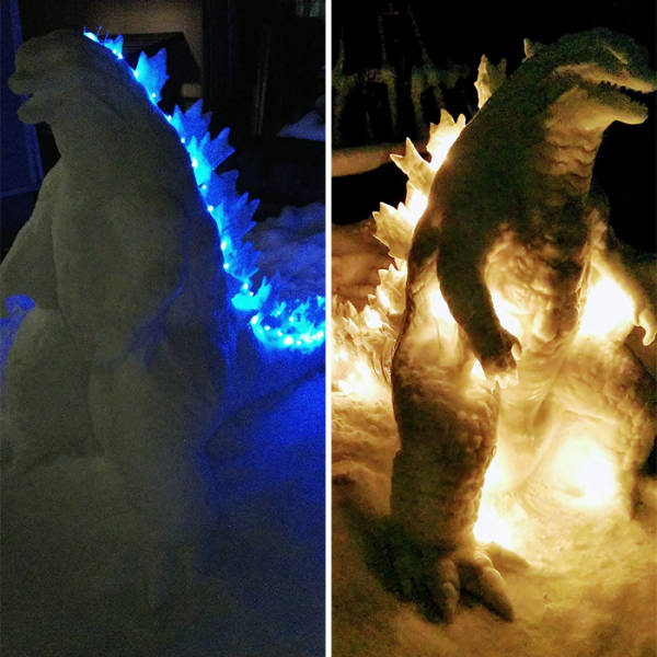 Japanese Artist Creates Incredible Snow Sculptures