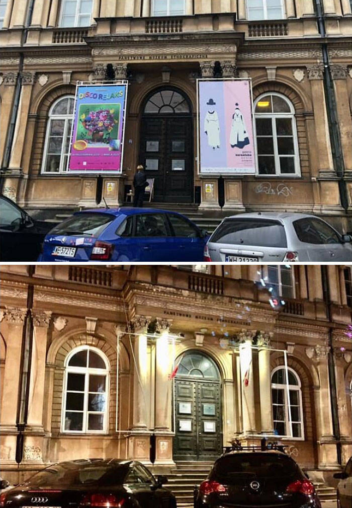 Polish Cities Decided To Remove Advertising Banners From Buildings, And It Looks So Much Better!