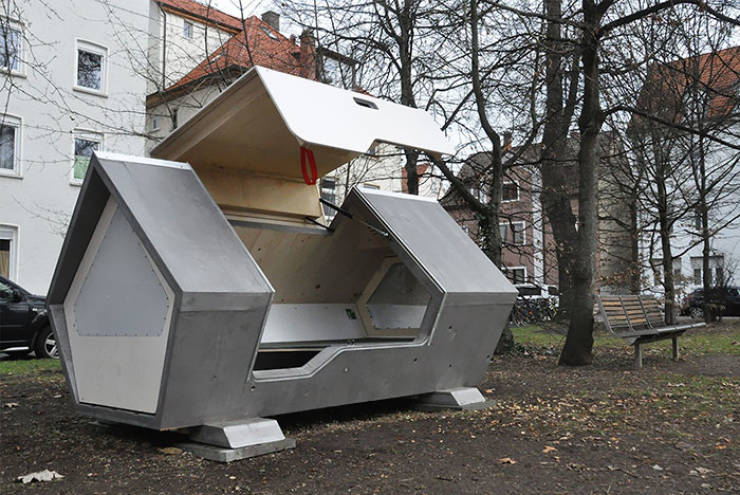 This German City Protects Homeless People By Installing Sleep Capsules
