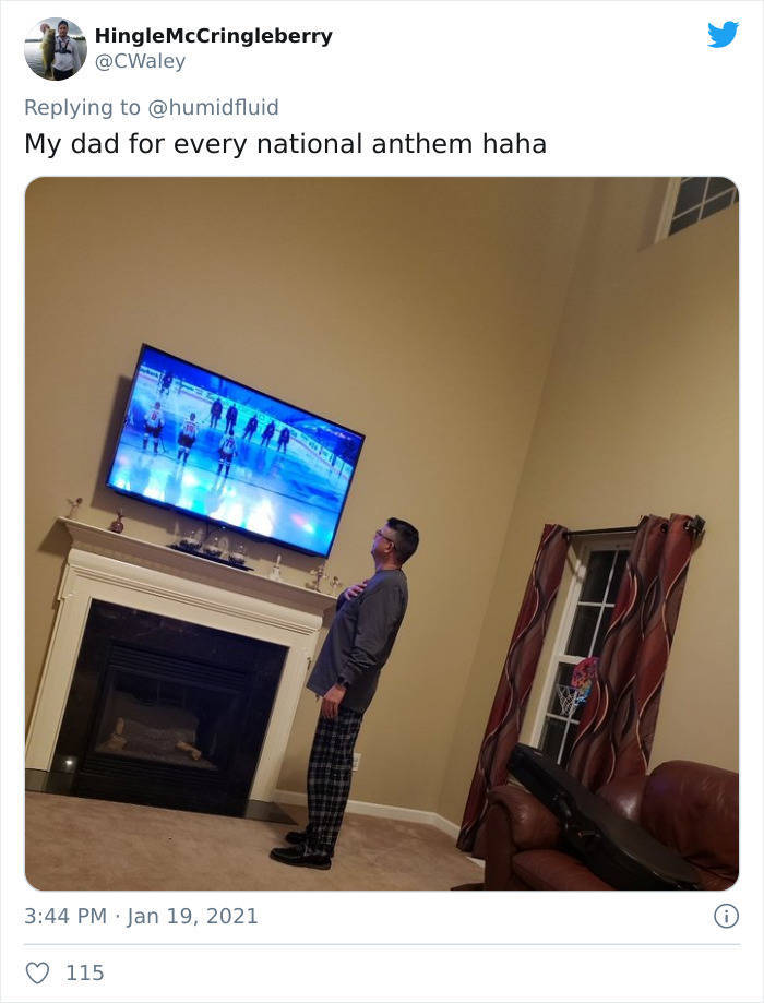 Dads Have Their Own, Special, Way Of Watching TV!