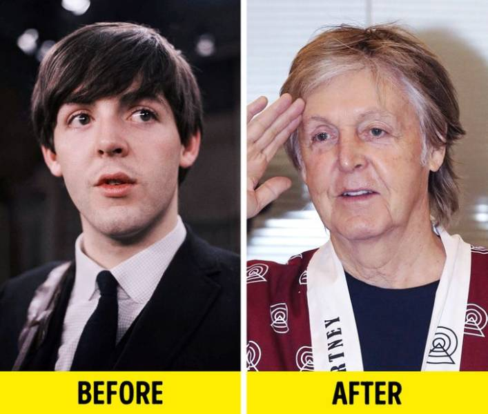 Elderly Rock Stars Back When They Were Young