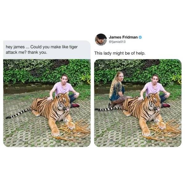 When You Ask James Fridman To Photoshop Your Pictures…