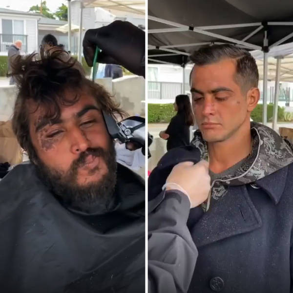 Barber Gives Homeless People Free Haircuts That Completely Change Their Image (And Sometimes Life)