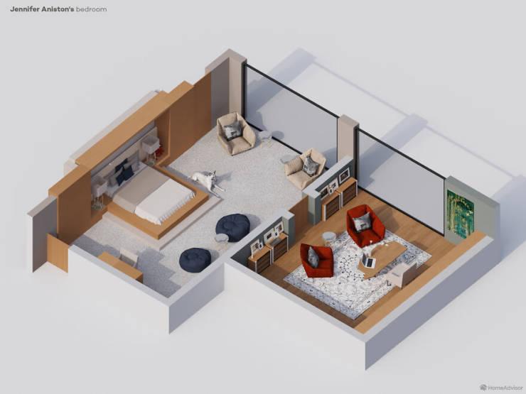 """Home Advisor"" Shows Celebrity Bedrooms Using 3D Renders"