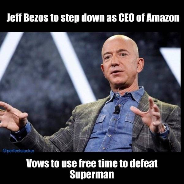"""Jeff Bezos Is Stepping Down As The CEO Of """"Amazon"""" And The Internet Is Full Of Memes About It"""