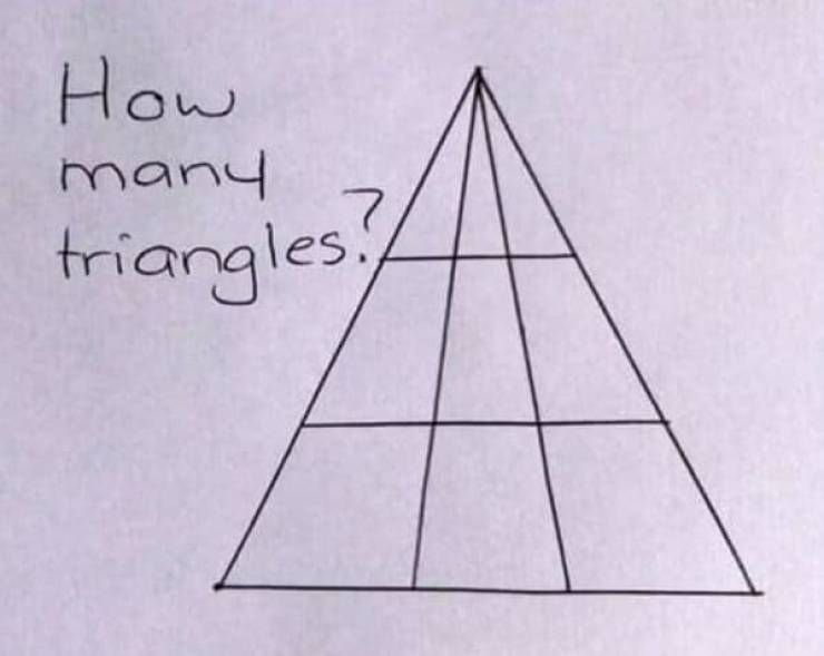 How Many Triangles Do You See?