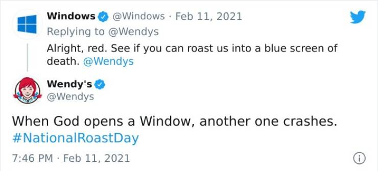 """Some Of The Most Savage Roasts By """"Wendy's"""""""