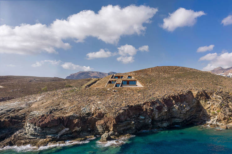 This Greek Cliffside House Looks Fantastic!