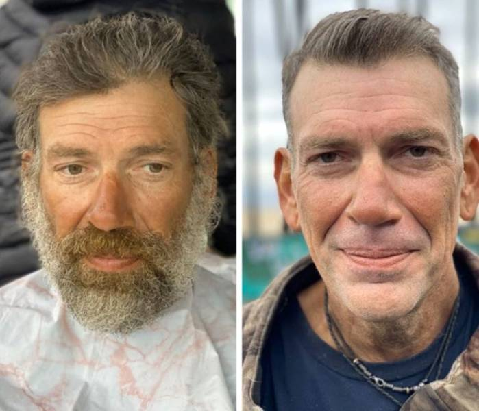 Stylist Transforms Homeless People By Giving Them Fresh New Looks