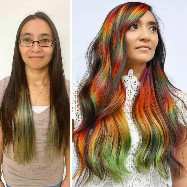 Women Who Went For Unusual Hair Colors