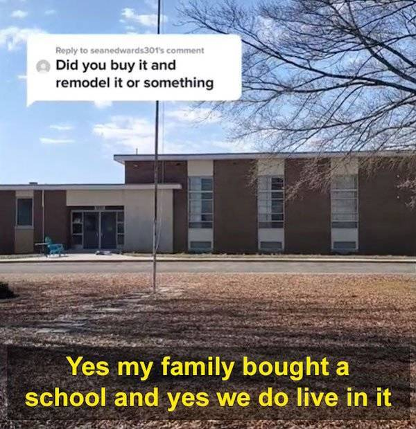 Family Buys A School And Lives In It