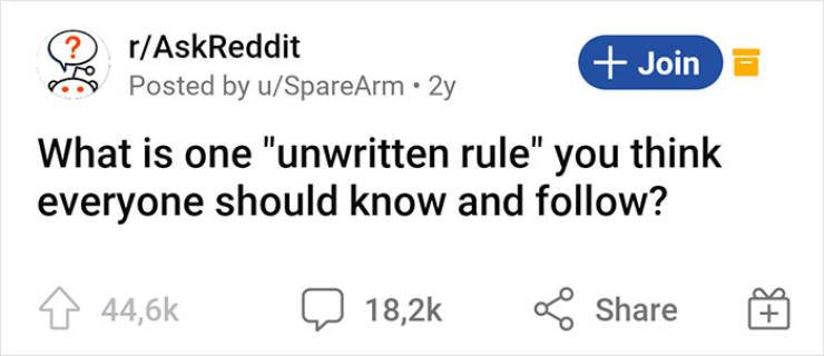 Unwritten Rules Everyone Should Follow