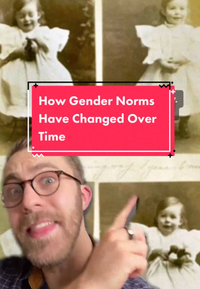 Guy Shows Another Perspective Of Gender Norms Throughout History