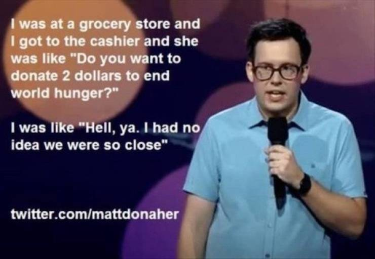 Some Great Stand-Up Comedy Lines