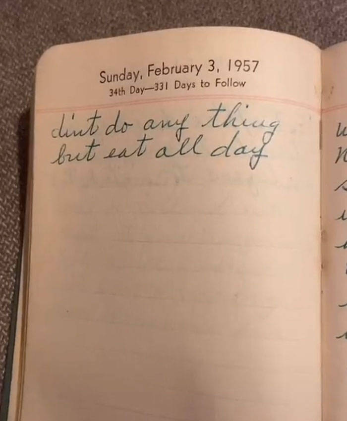 1957 Housewife Diary Found In A Thrift Shop