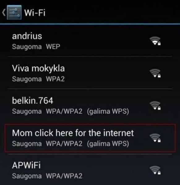 Smart And Hilarious Wi-Fi Network Names