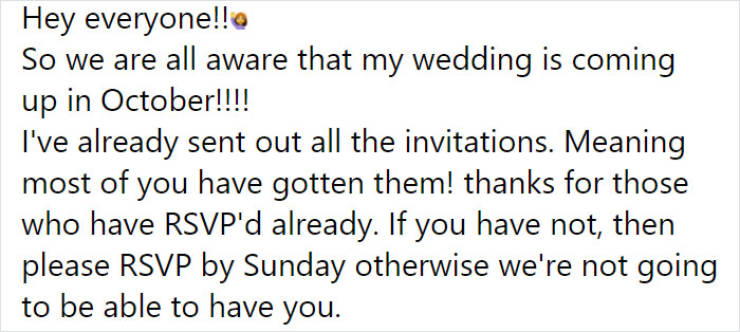 Bride Demands $400 From Every Guest, Gets Backlash From The Internet