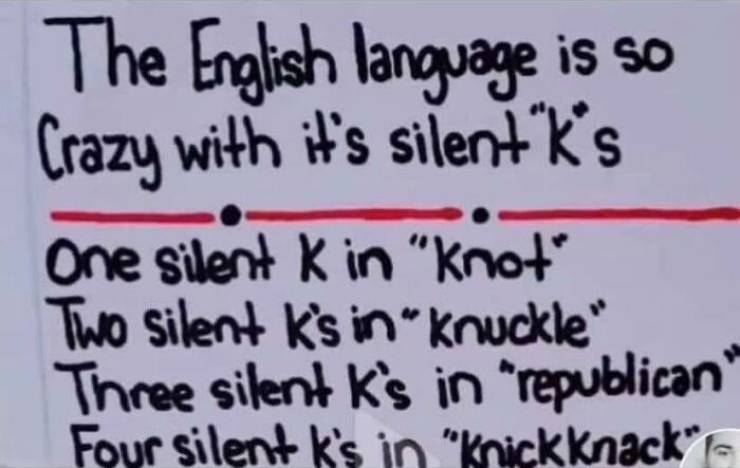 English Language Is A Pain To Learn…