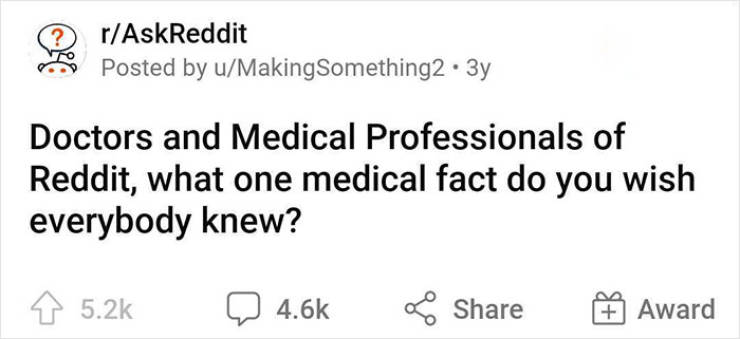 Doctors Share Important Medical Facts