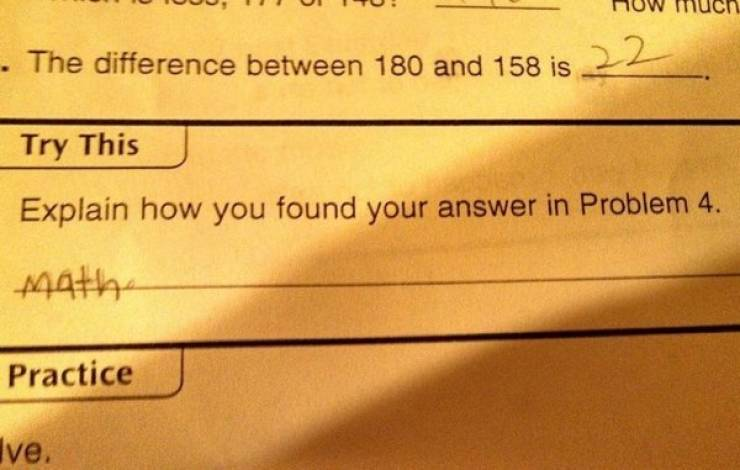 At Least These Homework Answers Are Honest…