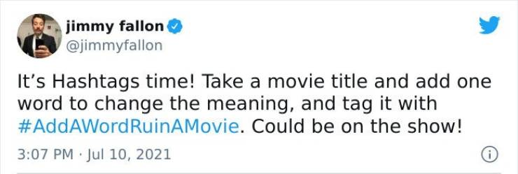 Ruin A Movie With One Word…