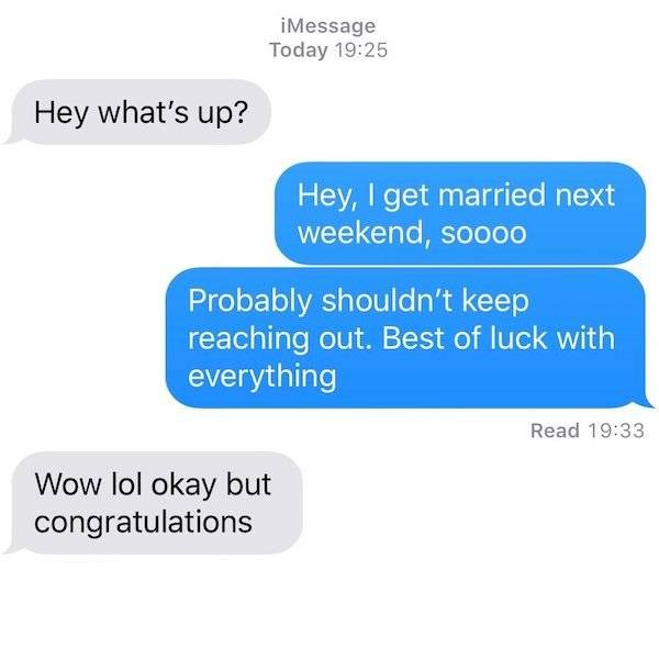Texts From Exes Are, Let's Just Say, Special…