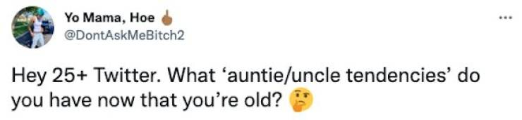 """Young People Share Their """"Uncle/Auntie Tendencies"""""""