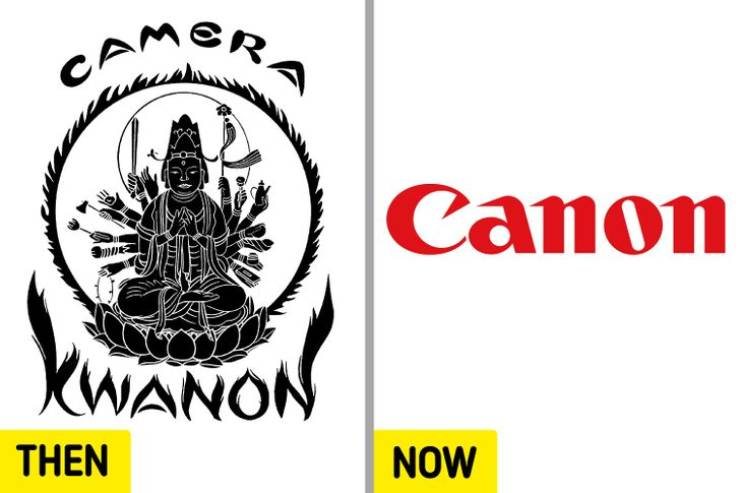 Famous Brand Logos: 50 Years Ago Vs Now