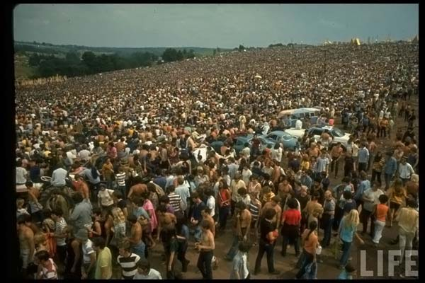 The Woodstock festival opens in Bethel, New York