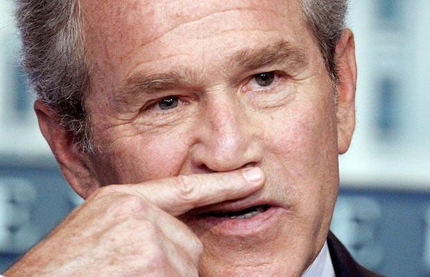 Facial expressions of George Bush (29 photos)